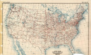 Us Highway System in 1926, Dept. Of Agriculture, US Government